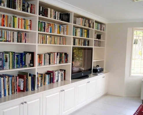 Brush-painted-wall-unit-bookshelf-Forestville
