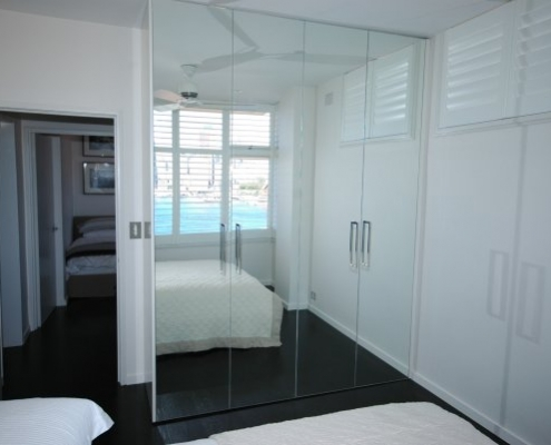 Custom mirror wardrobe doors - Potts Point