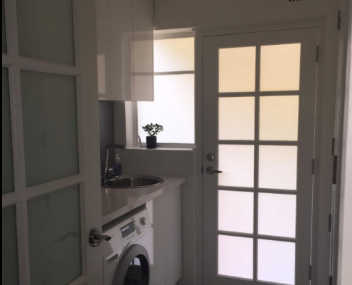 Laundry Fit out with Polyurethane Doors