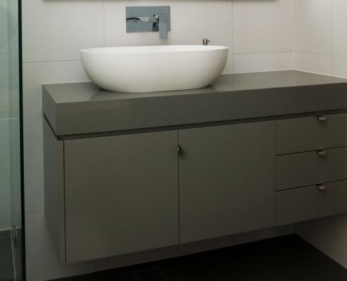 Quartz benchtop vanity